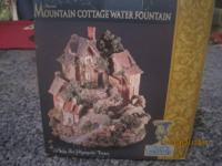 Cottage water fountain/plays 6 romantic tunes New $10
