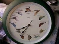 Bird Clock has 12 different birds that chirp on the