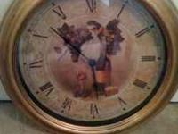 "NICE 12"" ROUND CLOCK WITH GRAPES WORKS GREAT WOULD LOOK"