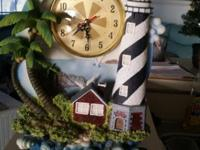 Beautiful clock lighthouse for sale $20. Perfect