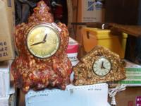 2old marble clocks 35.00; 3 old tubs 65.00; old