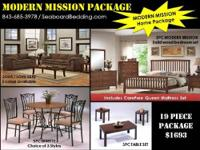 Murray closeout furniture package includes a 5pc queen