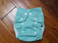 New Teal one size handmade  bamboo pocket cloth diaper