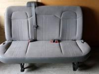Chevy Express van grey cloth seats 3rd, 4th and split