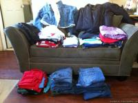"we have 5 capri""s pants, 6 pair""s of jeans size 14 and"