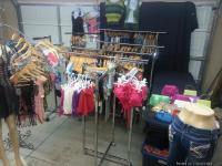 5 Garmet racks, 1 pant mannequin, 1 full mannequin, 11