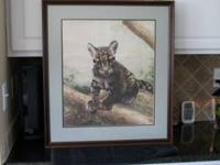 Very nice professioally framed & double matted Clouded