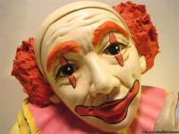1980's Vintage Large Ceramic Clown Bust. Stands about