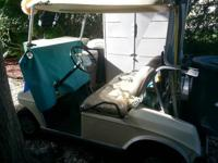 1990- 36V CLUB CAR/GOLF CART, RUNS GREAT/SOLID, GOOD