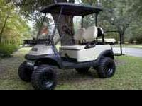 Nice hunting golf cart ready for the hunt. All upgrades