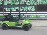 2001 Club Car Precedent Gas Golf Cart w/Green Custom