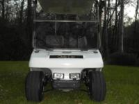 I have a white club cart with grey seats for sale. The