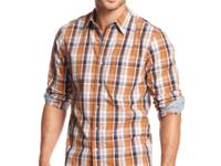 This classic plaid shirt from Club Room features a nice
