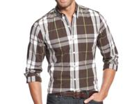 Club Room refines the plaid shirt with this signature