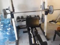 Club/Weider 350 bench & weight set comes with 2-45lbs