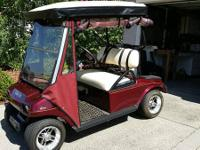 CLUB CAR Golf Cart -- Beautiful 2006 Burgundy Metallic