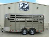 This 2014 CM 16 X 6 stock trailer is 6 amp 039 wide 6