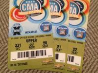 "I have 3 additional ""CMA Music Festival 4-day passes"""