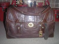 Authentic Coach ALL Leather Signature Series Purse.