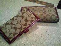I have two Authentic Coach wallets for $75 each. If