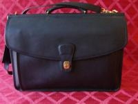 Coach Black Beekman Willis Leather Briefcase / Laptop