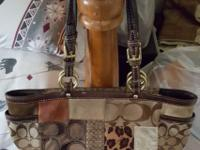 Hi i have 2 purses for sale one is a coach hand bag its