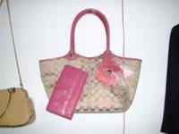 I have an authentic Coach bag with wallet for sale. The