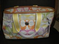 BEAUTIFUL AUTHENTIC COACH MULTI COLOR TOTE HAND