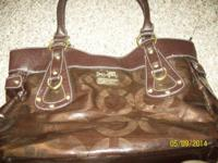 I have a leather COACH HANDBAG in brand-new cond.