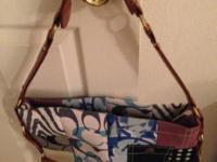 Original Coach Denim Patchwork Handbag -- Like New