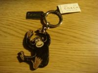 COACH (BROWN) MONKEY KEY FOB KEY RING STYLE NUMBER
