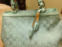 Older Coach Purse with Leather straps & & suede on the
