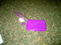 Coach Patent Small Wristlet F47782(Plum) New with Tags