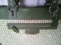 COACH PENELOPE OP ART NORTH SOUTH TOTE BAG 13453 GREEN