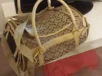 For sale : Coach style Pet Carrier  , Clean & in Great
