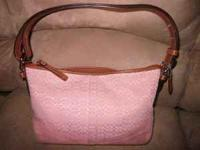 SUper cute pink COACH duffle shoulder purse. It is in