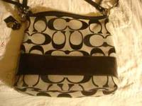 Black large coach purse for sale. Great condition.