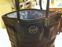 Authentic Coach purse black (patent leather) the inside