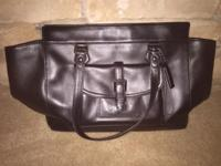 Black Medium Sized Coach Purse in excellent condition.