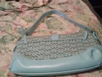 Light blue coach medium size shoulder purse...never