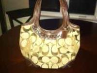 Coach purse and matching wallet. Purse stands about 18""