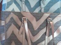 2 Coach purses very similar, one is blue and white the