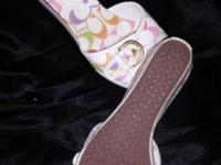 Multi color Coach slides, women size 9, gently used and