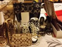 Coach shoes 4 pr (two athletic, 1 high heel sandal, 1