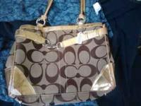 Authentic Coach bag, it has gotten quite a bit of use