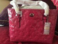 Brand new pink patent quilted tote. This ad was posted