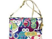 "Coach purse   12"" x 10""    great for summer  25.00"