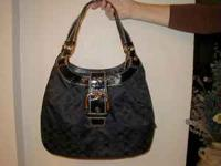 Coach Purse with matching cosmetic bag and wallet with