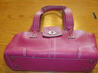 Purse 1 Dark pink  Coach No J0973-F13961. Cowhide