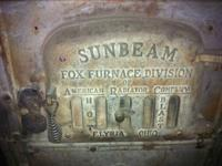 Antique coal Furnace.  Sunbeam Fox Furnace Division,